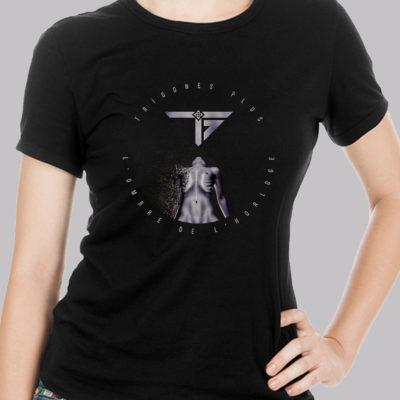 Boutique T-shirt Femme L'Ombre de l'Horloge Trigones Plus Groupe Musique Rock